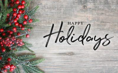 Good News & Happy Holidays!
