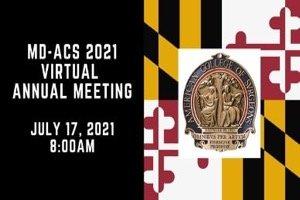 Maryland ACS 2021 Virtual Annual Meeting